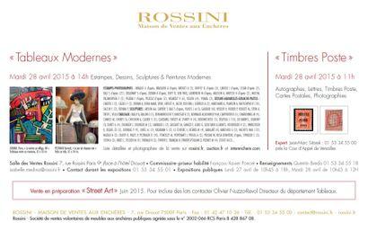 Estampes, Dessins, Sculptures, Peintures du XIXe, Modernes et Contemporainsn à 14h