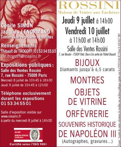 BIJOUX – ARGENTERIE - MONTRES