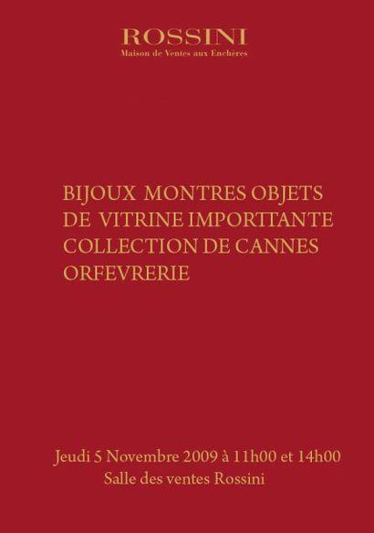 BIJOUX, MONTRES, OBJETS DE VITRINE, IMPORTANTE COLLECTION DE CANNES, ORFEVRERIE,
