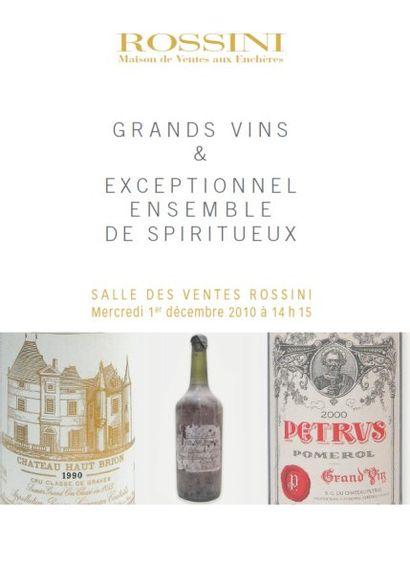Grands Vins et exceptionnel ensemble de spiritueux