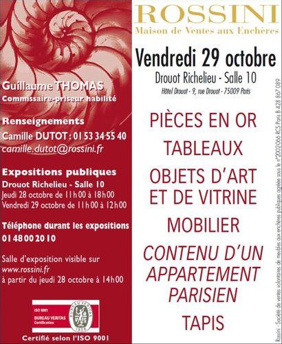 PIÈCES EN OR - TABLEAUX - OBJETS D'ART ET DE VITRINE - MOBILIER - TAPIS