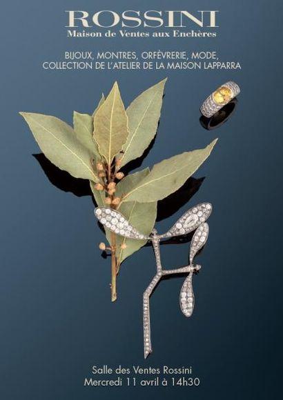 Vente cataloguée Bijoux, Montres, Orfèvrerie, Mode, Collection de l'atelier de la Maison LAPPARRA