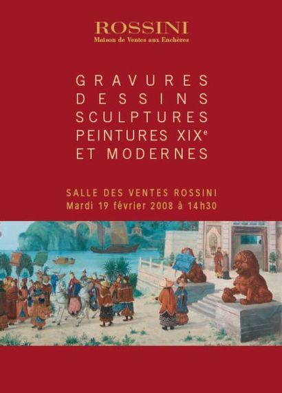 Gravures, dessins, sculptures, peintures XIXe et modernes