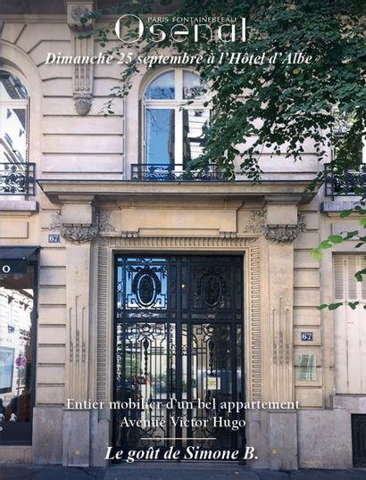 Entier mobilier d'un bel appartement Avenue Victor Hugo - Le goût de Simone B.