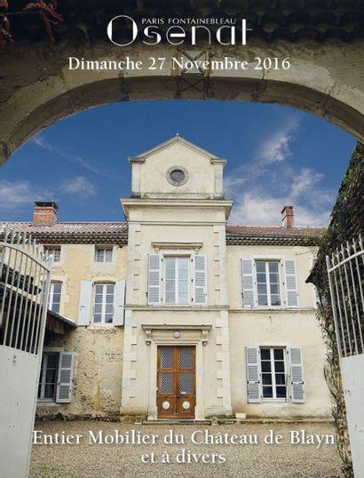 mobilier du Château de Blayn et à divers