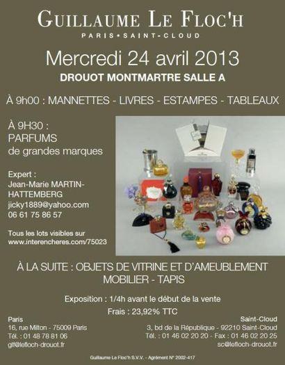 PARFUMS DE CONSOMMATION ET MOBILIER et OBJETS d'ART