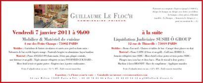 Vente sur place - Mobilier & Matériel de cuisine