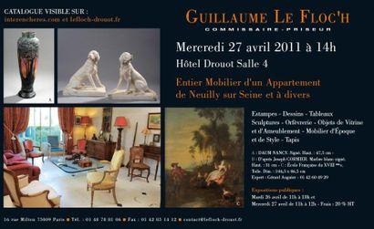Entier Mobilier d'un Appartement de Neuilly sur Seine et à divers...