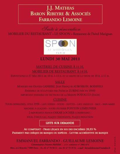 MOBILIER DU RESTAURANT « LE SPOON » Restaurant de l'hôtel Marignan
