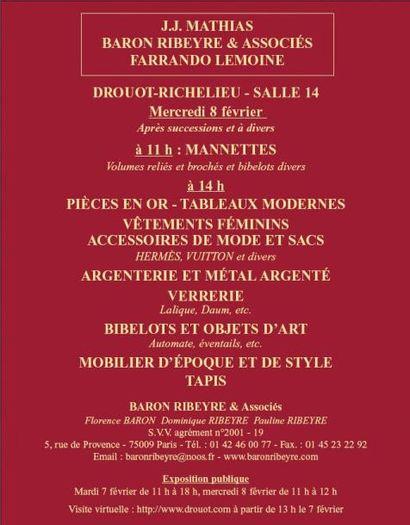 Meubles et objets d'art -  à 11h30 et 14h00