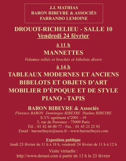 Mannettes - Meubles et objets d'art...