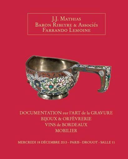 DOCUMENTATION sur l'ART de la GRAVURE BIJOUX & ORFÈVRERIE VINS de BORDEAUX MOBILIER