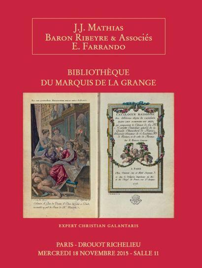 BIBLIOTHÈQUE DU MARQUIS DE LA GRANGE