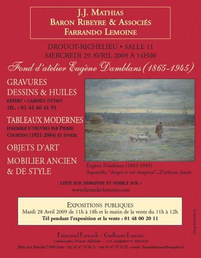 Fond d'atelier Eugène Damblans (1865-1945) et divers artistes