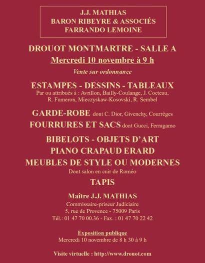 Vente à Drouot Montmartre - Salle A