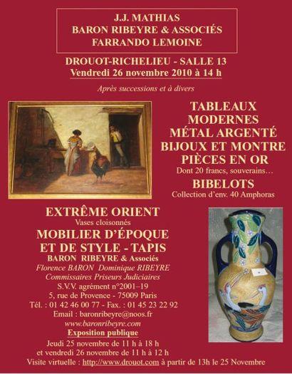 Tableaux, Meubles et objets d'art,...