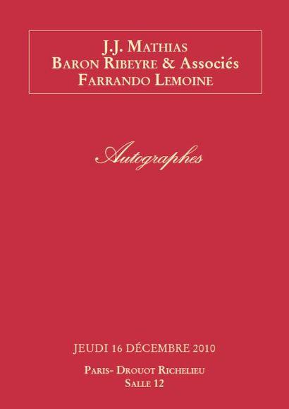 Autographes et manuscrits