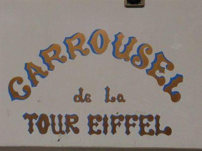 VENTE JUDICIAIRE DE L'ANCIEN CARROUSEL DE LA TOUR EIFFEL