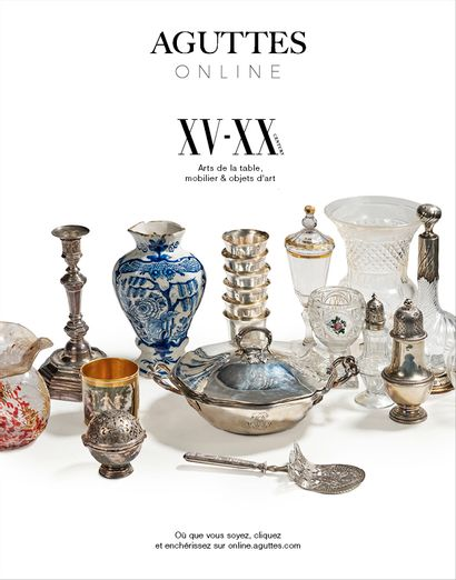 ONLINE ONLY : ARTS DE LA TABLE, MOBILIER & OBJETS D'ART