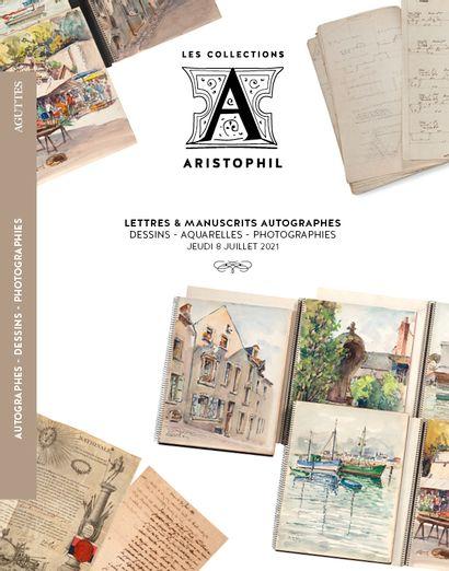 42 - Aristophil收藏 - 信件和亲笔手稿 - 图画 - 水彩画 - 照片