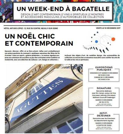 Un week-end à Bagatelle : Design, Art contemporain, Vins & spiritueux, Automobiles de collection, Montres et accessoires masculins