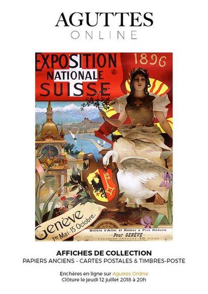 ONLINE : Collection d'affiches de tourisme et vieux papiers