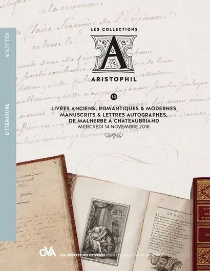 10 • LITTÉRATURE • LIVRES ANCIENS, ROMANTIQUES & MODERNES - MANUSCRITS & LETTRES AUTOGRAPHES, DE MALHERBE À CHATEAUBRIAND par AGUTTES