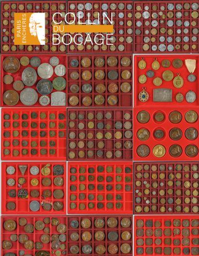 Numismatique : collection de jetons
