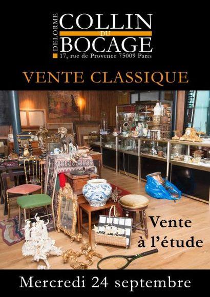Vente classique : entier mobilier d'un appartement parisien