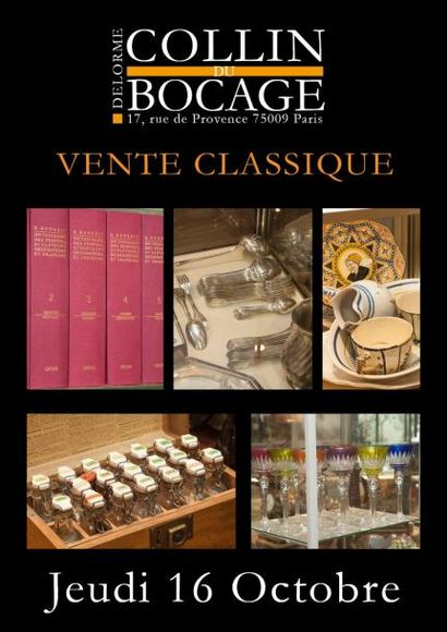 Vente classique : petit mobilier, objets d'art et de vitrine...