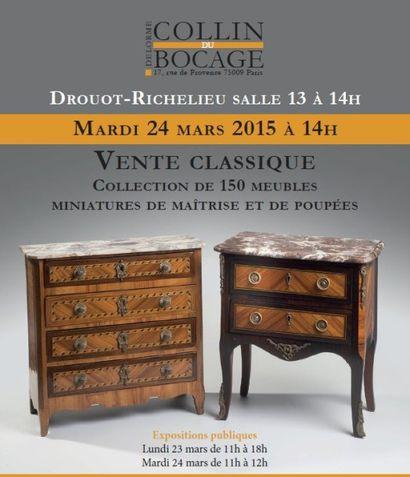 Exceptionnelle collection de meubles de maîtrise - Vente Classique