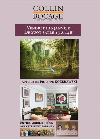 Vente ordinaire - Atelier de Philippe KOZERAWSKI - Entier mobilier d'un appartement parisien