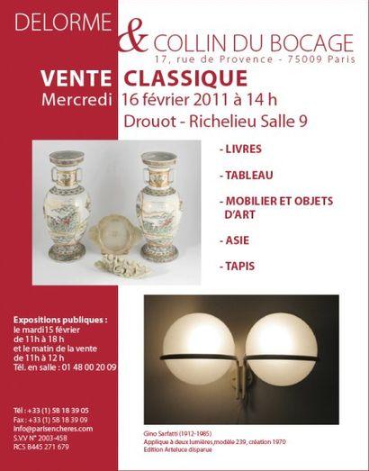 Vente classique - Meubles et objets d'art