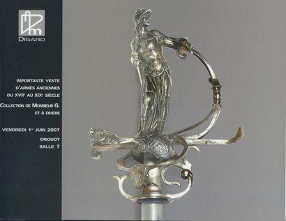 Importantes ventes d'armes anciennes du XVII au XIX siècle