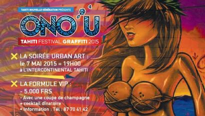 SPECIAL AUCTION  - ONO'U - URBAN ART IN TAHITI