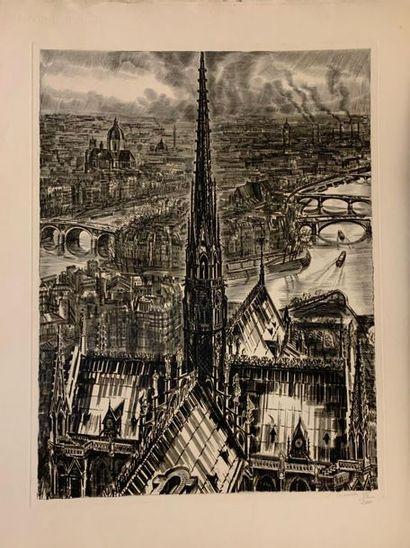 Albert DECARIS (1901-1988) Peintre, graveur, illustrateur Documents, livres, estampes, tableaux. De la Collection Georges FABRE