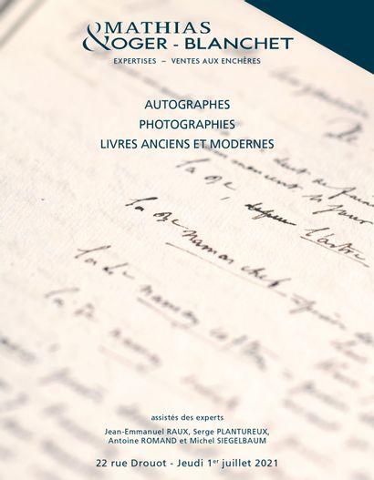 LIVRES ANCIENS ET MODERNES - MANUSCRITS ET AUTOGRAPHES - PHOTOGRAPHIES