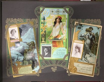 STAMPS - ANCIENT POSTCARDS 37000 cards in 110 albums and in bulk France - abroad Fantasies - Illustrators