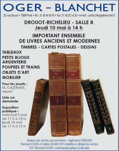 Livres anciens et modernes, timbres...