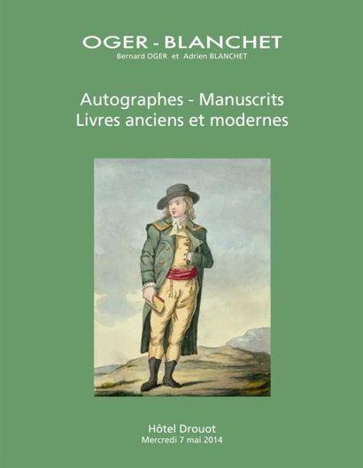 AUTOGRAPHES, LIVRES ANCIENS ET MODERNES