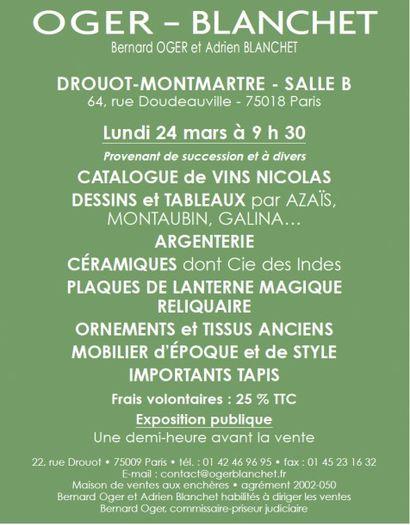 MOA - Dessin - Argenterie - Linge - Tissus - Tapis