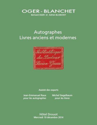 LIVRES ANCIENS ET MODERNES - vente à 13h30 et 15h30