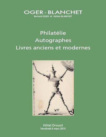 PHILATÉLIE AUTOGRAPHES LIVRES ANCIENS ET MODERNES