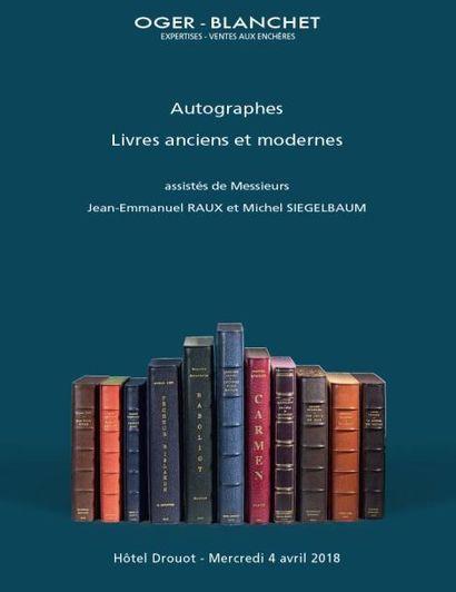 Autographes - Livres anciens et modernes