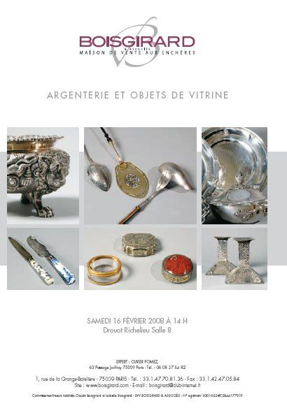 Argenterie et objets de vitrine