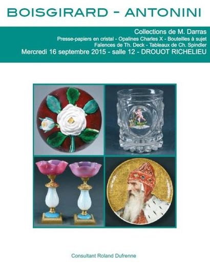 Collection  DARRAS: Presse-Papiers, Verreries, T. DECK,Tableaux, Bijoux et Marine