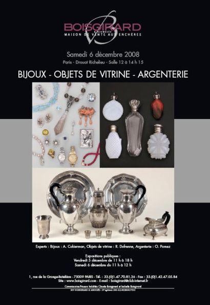 BIJOUX - OBJETS DE VITRINE - ARGENTERIE