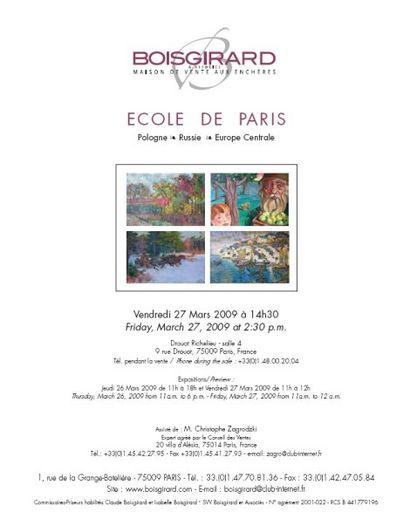 ECOLE DE PARIS Pologne - Russie - Europe Centrale
