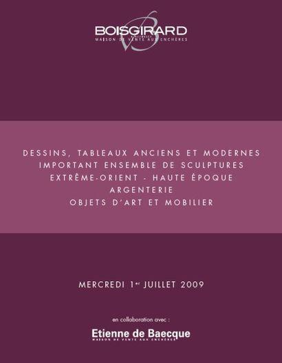 DESSINS, TABLEAUX ANCIENS ET MODERNES - IMPORTANT ENSEMBLE DE SCULPTURES - EXTRÊME-ORIENT - HAUTE ÉPOQUE - ARGENTERIE - MOA