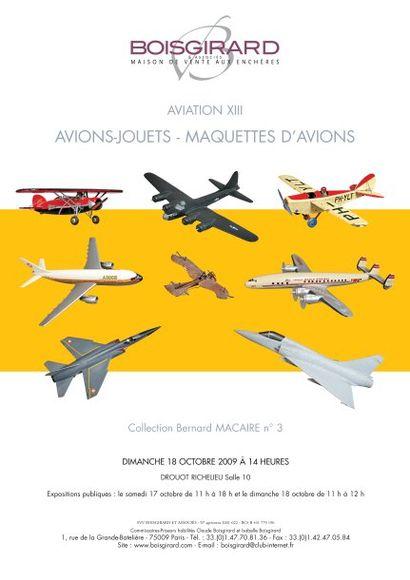 AVIATION XIII AVIONS-JOUETS - MAQUETTES D'AVIONS
